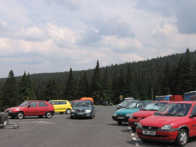 Parking pod Pradziadem